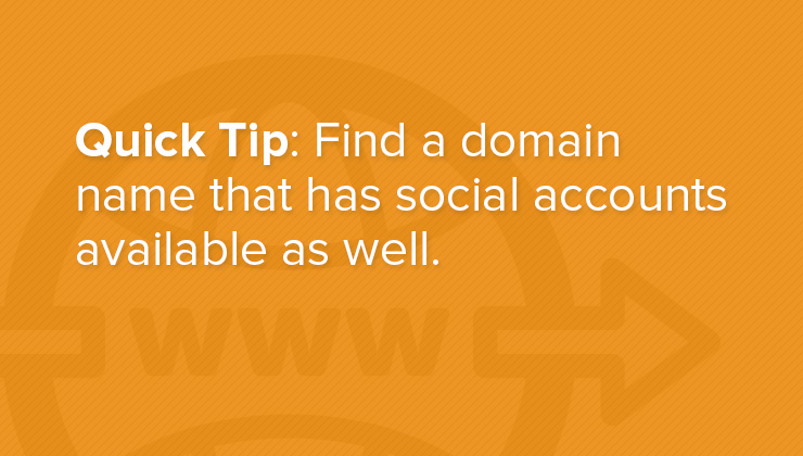 How much does a website cost? Quick Tip: Find a domain name that has social accounts available as well.