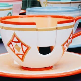 Spinning teacup ride